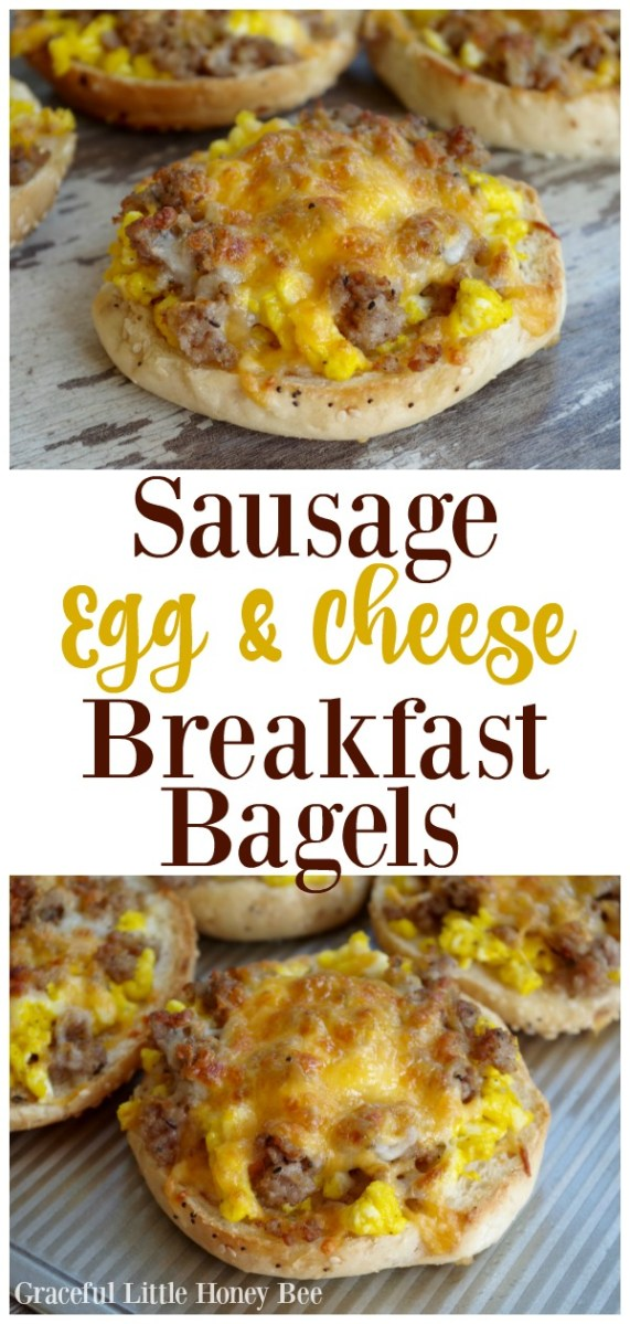 Sausage, Egg and Cheese Breakfast Bagels